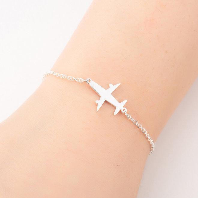 Fashion Favorite Vliegtuig Armband   Goudkleurig   16 + 5 cm