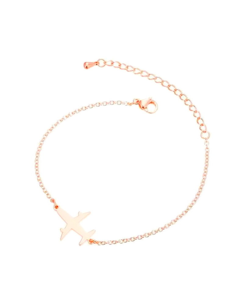 Fashion Favorite Fashion Favorite Vliegtuig Armband | Rosékleurig | 16 + 5 cm