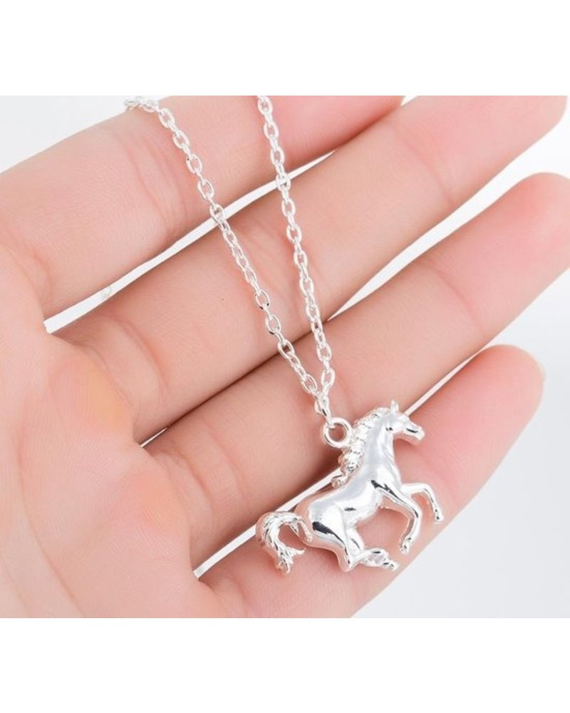Fashion Favorite Fashion Favorite Paard Ketting | Zilverkleurig | 45 + 5 cm