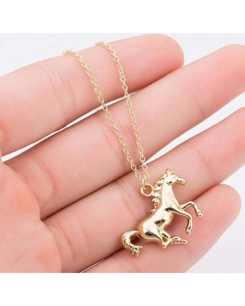 Fashion Favorite Fashion Favorite Paard Ketting | Goudkleurig | 45 + 5 cm