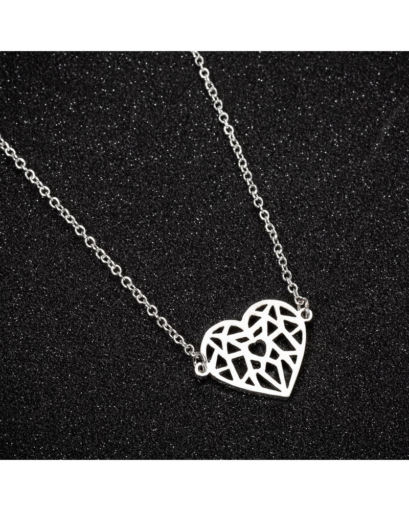 Fashion Favorite Fashion Favorite Hart Ketting | Goudkleurig | 45 + 5 cm