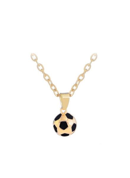 Fashion Favorite Voetbal Hanger Ketting - Goudkleurig