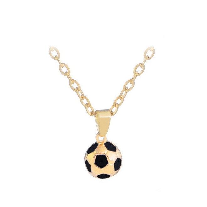 Fashion Favorite Ketting met Voetbal Hanger - Goudkleurig - 45 + 5 cm