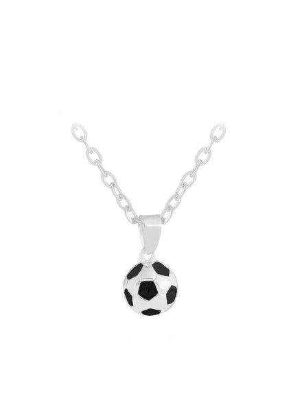 Fashion Favorite Voetbal Hanger Ketting - Zilverkleurig