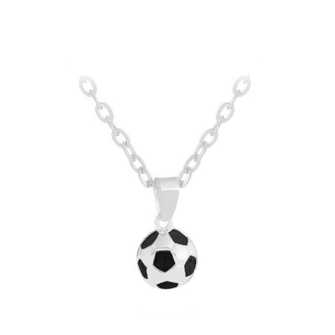 Voetbal Hanger Ketting - Zilverkleurig