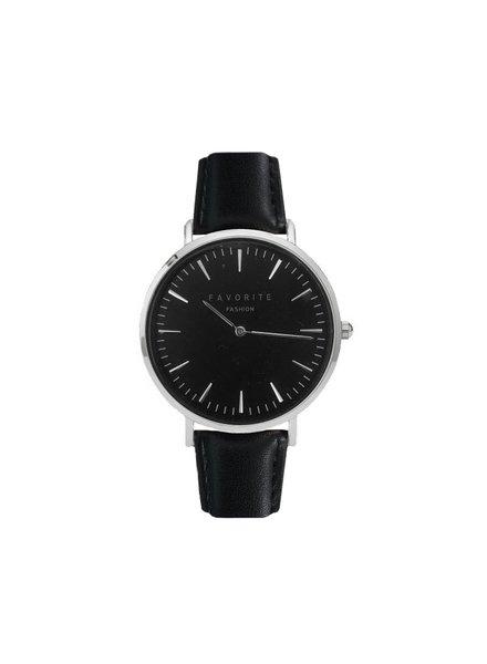 Favorite Fashion Vitória Black / Silver 2.0 Horloge