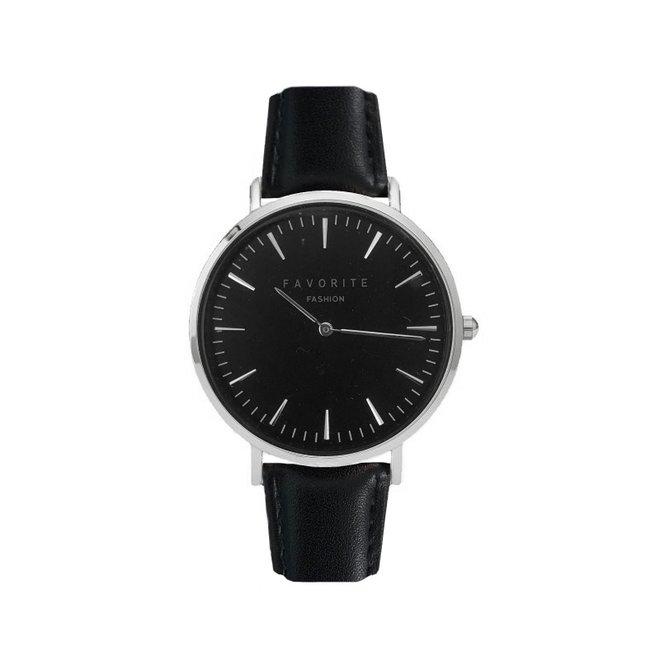Vitória Black / Silver 2.0 Horloge