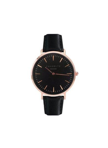 Favorite Fashion Vitória Black / Rosé 2.0 Horloge