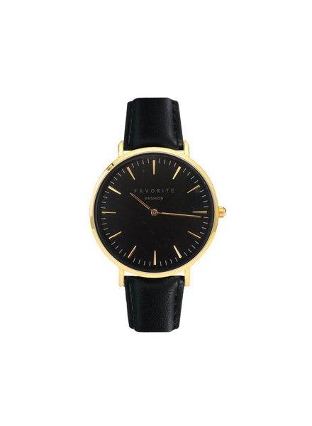 Favorite Fashion Vitória Black / Gold 2.0 Horloge