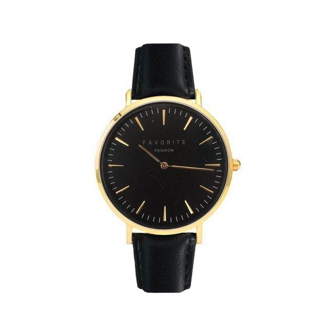Vitória Black / Gold 2.0 Horloge