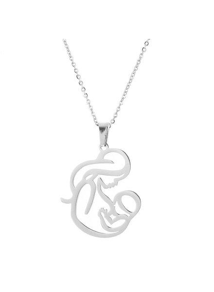 Fashion Favorite Moeder / Baby Ketting - Zilverkleurig