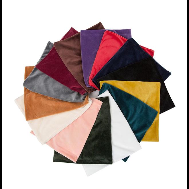 Velvet Colsjaal - Oranje/Bruin | Fluweel/Polyester