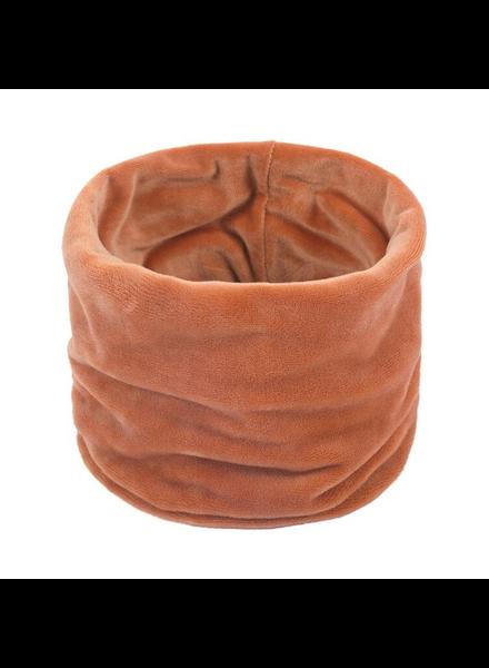 Fashion Favorite Velvet Colsjaal - Oranje/Bruin