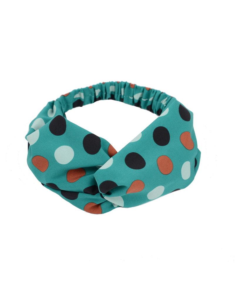 Fashion Favorite Haarband Print | Stip Groen - Bruin - Wit - Zwart