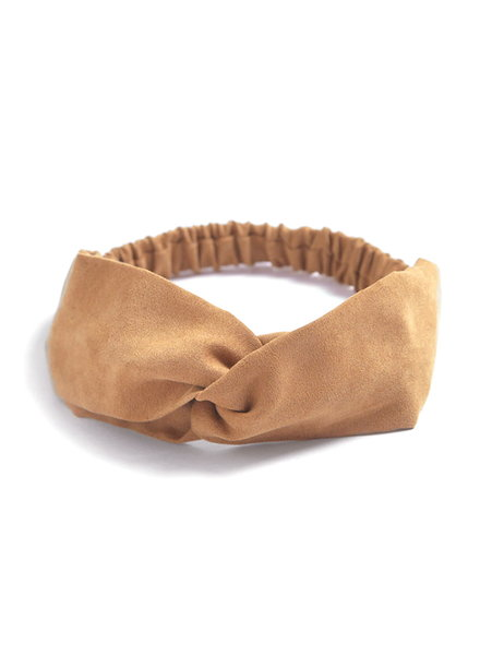 Fashion Favorite Suede Cross Haarband Camel