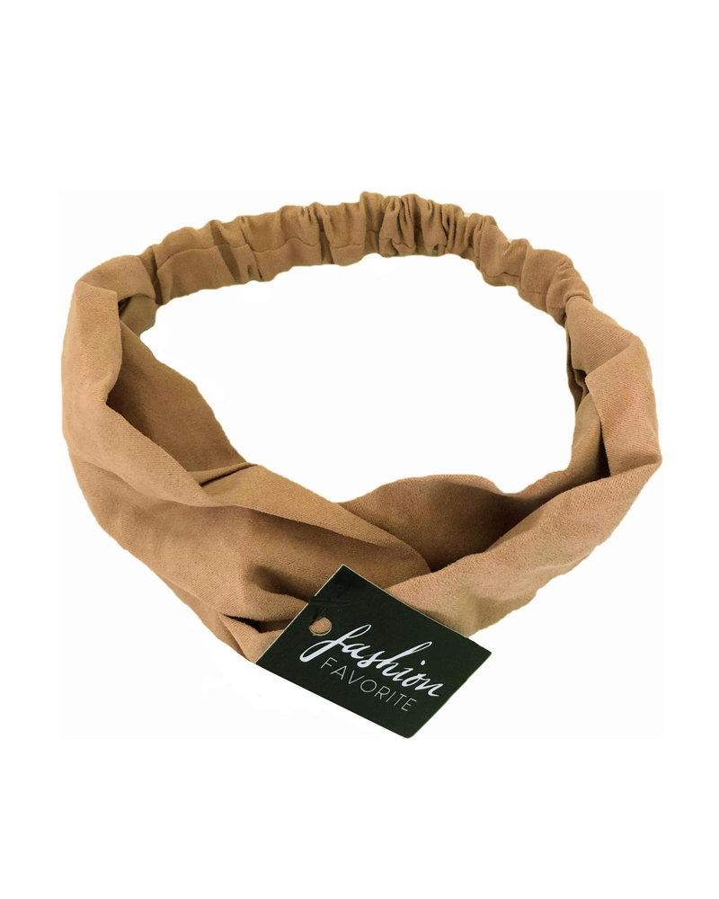 Fashion Favorite Suede Cross Haarband Camel | Camel | Velvet Suède | Fashion Favorite
