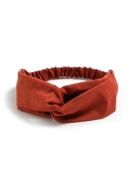 Fashion Favorite Suede Cross Haarband Roest