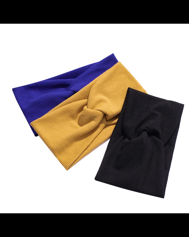Fashion Favorite Haarband Blauw | Bandana | Katoen | Elastisch - Copy - Copy