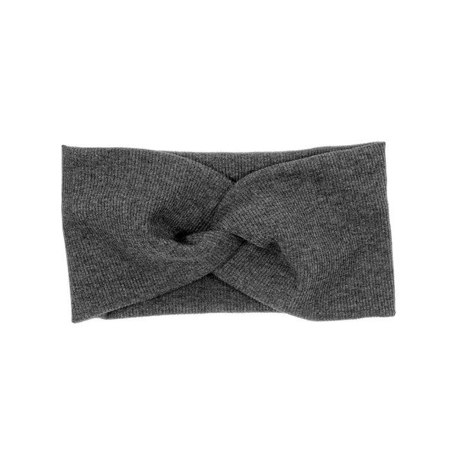 Haarband Antraciet | Bandana | Katoen | Elastisch - Copy - Copy - Copy