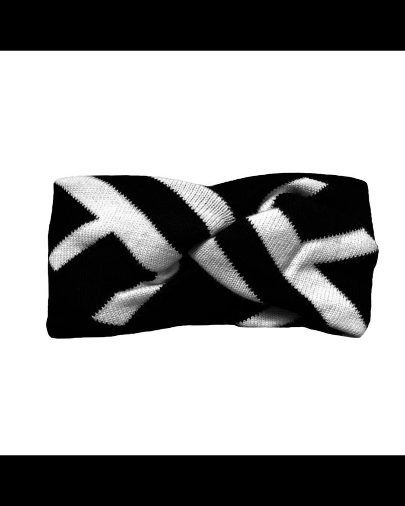 Fashion Favorite Hoofdband / Haarband Wit-Zwart | Katoen | Elastisch | Fashion Favorite