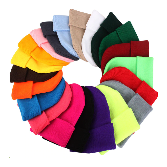 Beanie Muts Uni Rood   Polyacryl   One Size   Fashion Favorite