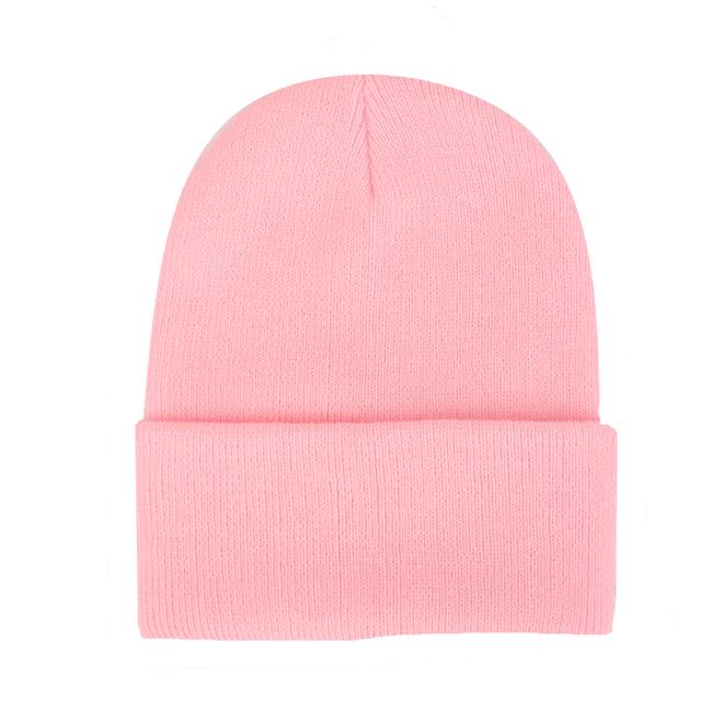 Beanie Muts Uni Roze   Polyacryl   One Size   Fashion Favorite