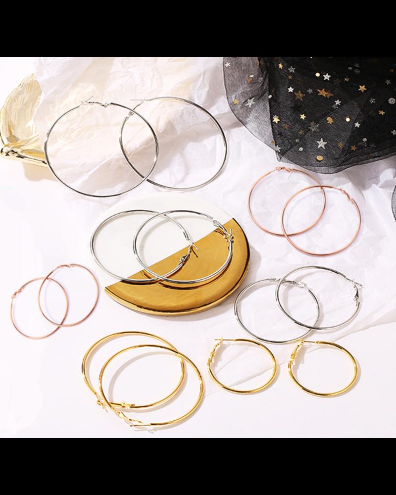 Fashion Favorite Oorringen 60 mm | Zilverkleurig | Clipsluiting | Ronde Buis