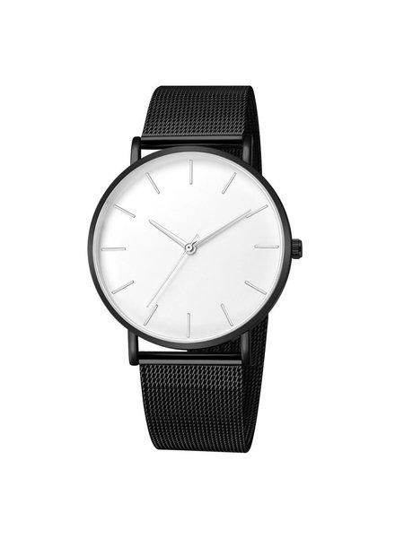 Fashion Favorite Maxx Mesh Zwart / Wit Horloge