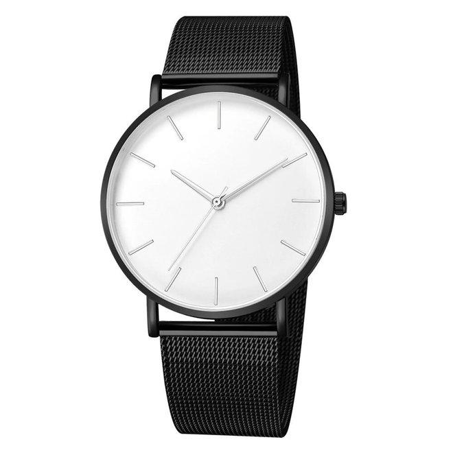 Maxx Mesh Zwart / Wit Horloge   Staal   Ø 40 mm
