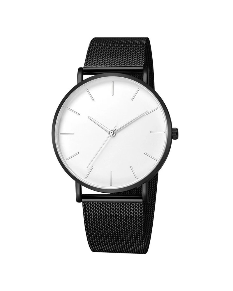 Fashion Favorite Maxx Mesh Zwart / Wit Horloge | Staal | Ø 40 mm