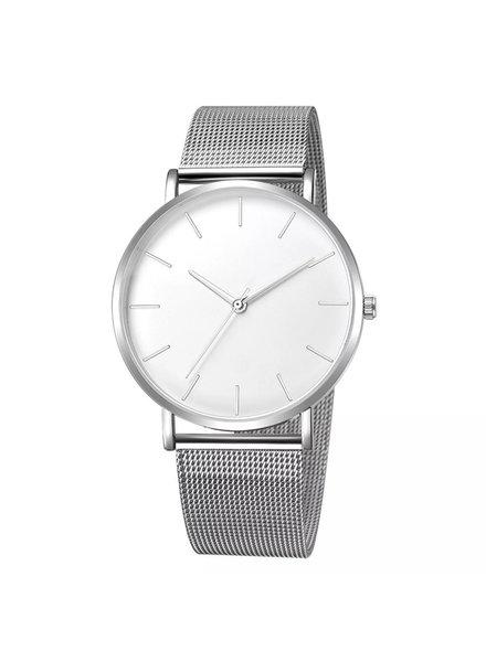 Fashion Favorite Maxx Mesh Zilver / Wit Horloge