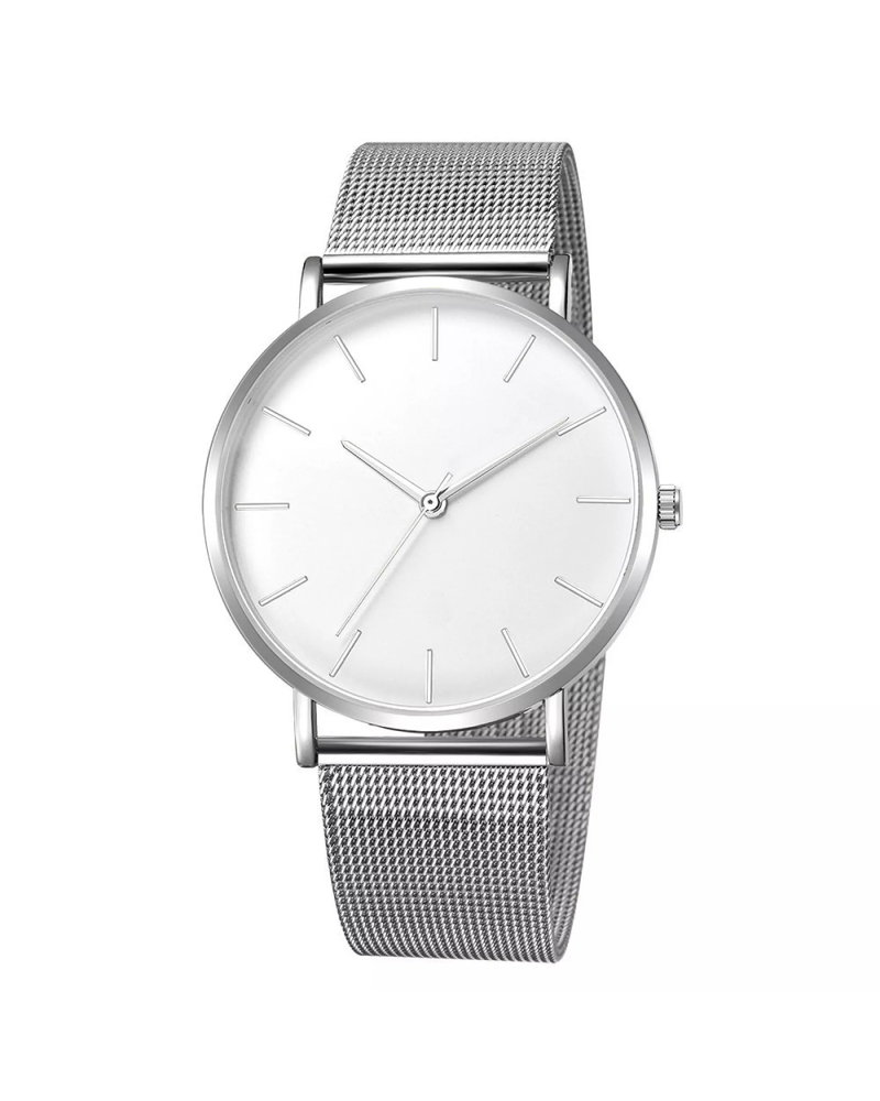 Fashion Favorite Maxx Mesh Zilver / Wit Horloge | Staal | Ø 40 mm