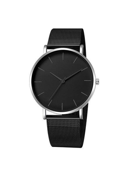 Fashion Favorite Maxx Mesh Zwart / Zilver Horloge