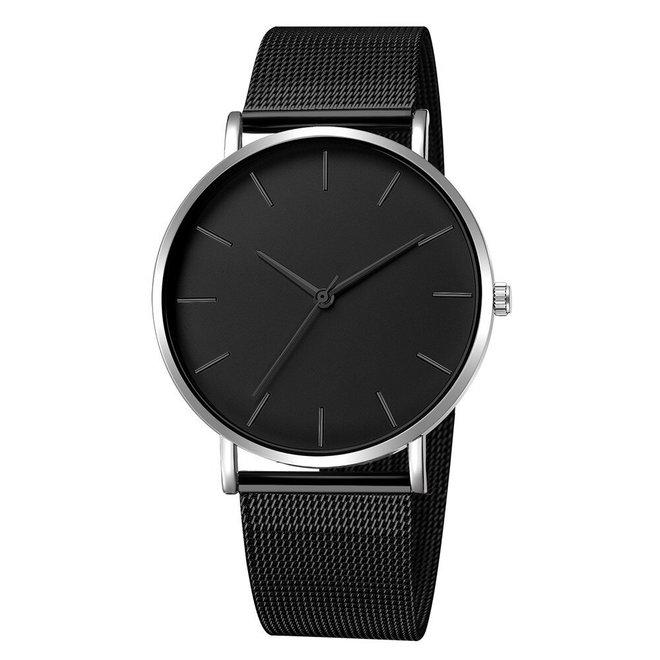 Maxx Mesh Zwart / Zilver Horloge | Staal | Ø 40 mm