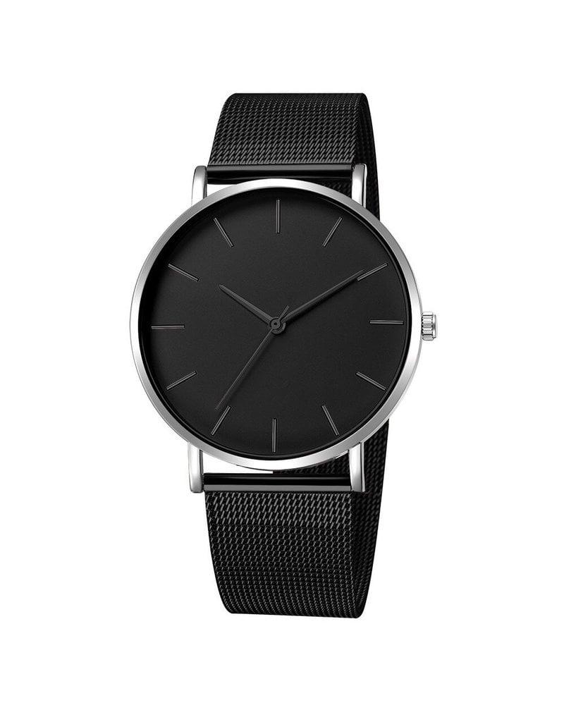 Fashion Favorite Maxx Mesh Zwart / Zilver Horloge | Staal | Ø 40 mm