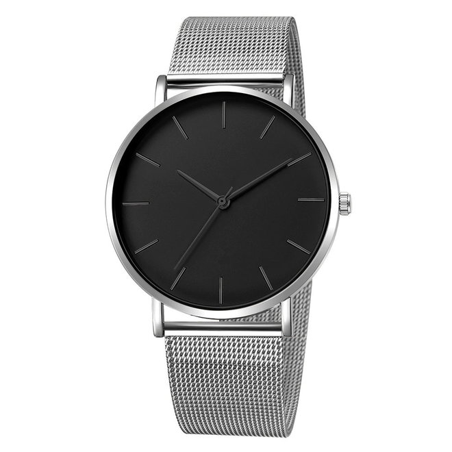 Maxx Mesh Zilver / Zwart Horloge | Staal | Ø 40 mm