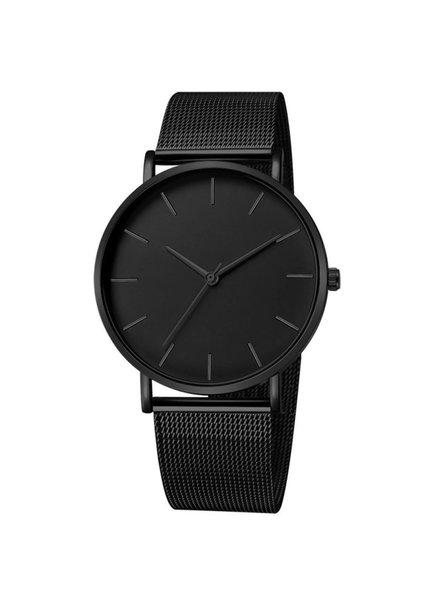 Fashion Favorite Maxx Mesh Zwart / Zwart Horloge