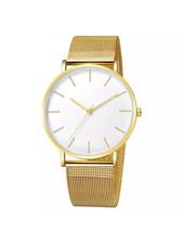 Fashion Favorite Maxx Mesh Goud / Wit Horloge