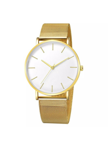 Fashion Favorite Maxx Mesh Goud / Wit Horloge