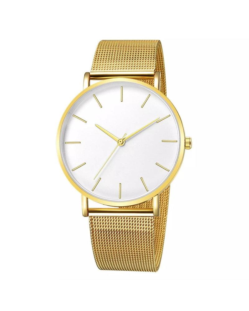 Fashion Favorite Maxx Mesh Goud / Wit Horloge | Staal | Ø 40 mm