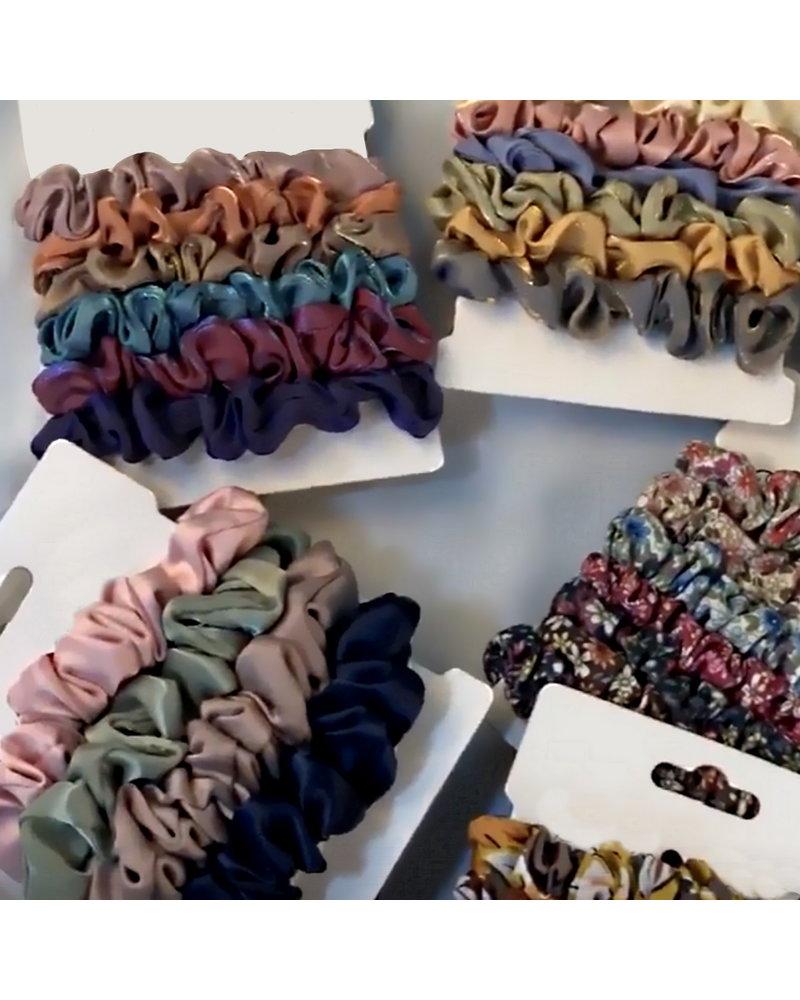 Fashion Favorite Haarelastiek Satijn #2 | Mix 6 stuks | Scrunchie / Haarwokkel | Fashion Favorite