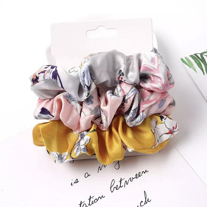 Haarelastiek Bloemen | Mix 3 stuks | Scrunchie / Haarwokkel | Fashion Favorite