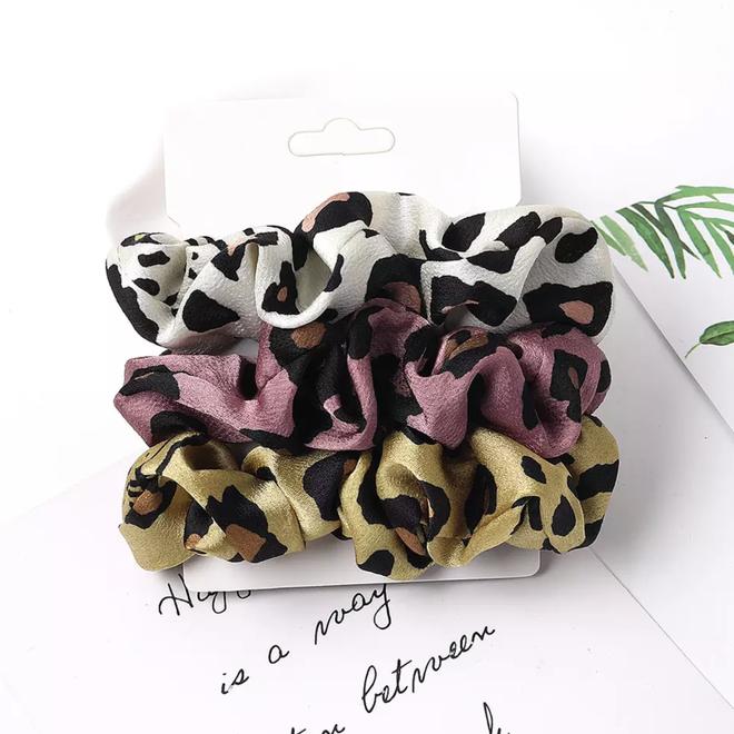 Haarelastiek Leopard / Panter | Mix 3 stuks | Scrunchie / Haarwokkel | Fashion Favorite