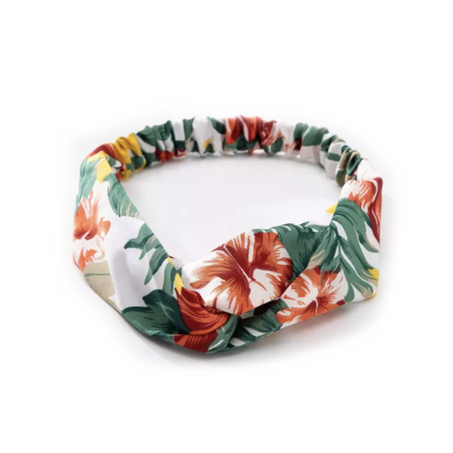 Haarband White Flowers   Bloemen   Elastische Bandana   Fashion Favorite