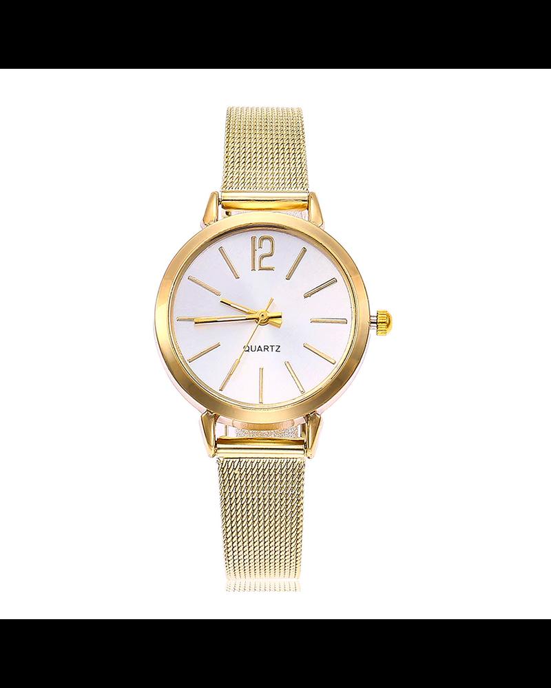 Fashion Favorite Blanche Gold / White Horloge | Goudkleurig | Ø 30 mm