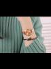 Fashion Favorite Blanche Rose / White Horloge   Rosekleurig   Ø 30 mm