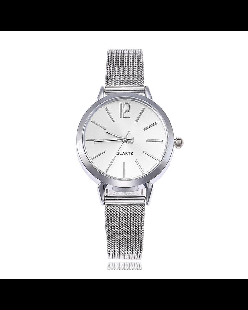 Fashion Favorite Blanche Silver / White Horloge | Zilverkleurig | Ø 30 mm