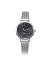 Fashion Favorite Blanche Silver / Black Horloge