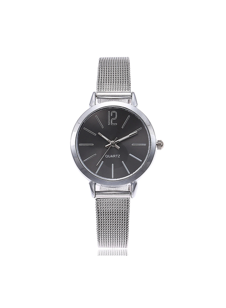 Fashion Favorite Blanche Silver / Black Horloge