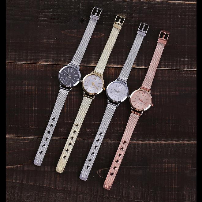 Blanche Silver / Black Horloge | Zilverkleurig - Zwart | Ø 30 mm